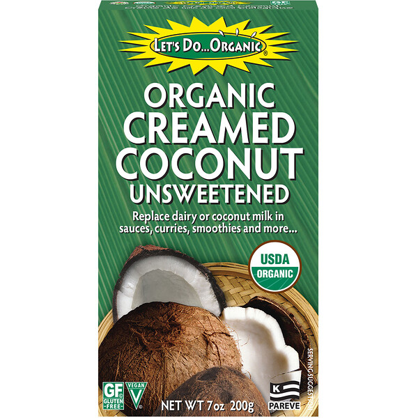 Edward & Sons, Let's Do Organic, Organic Creamed Coconut, Unsweetened, 7 oz (200 g)