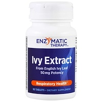 Ivy Extract, Respiratory Health, 50 mg, 90 Tablets - фото