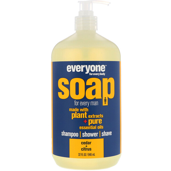 EO Products, Жидкое мыло Everyone Soap for Every Man, Кедр + цитрус, 32 fl oz (960 мл)