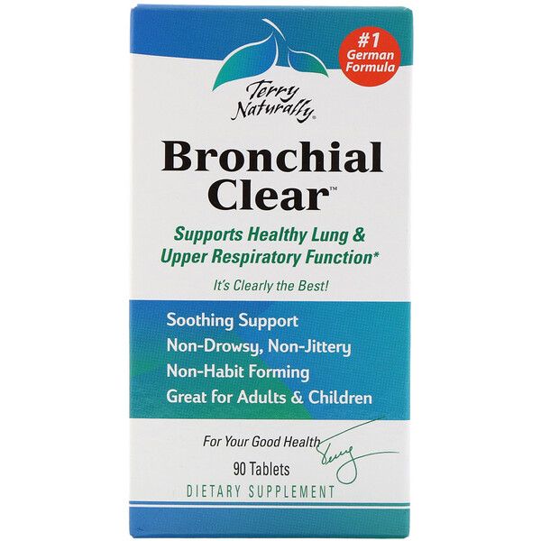 EuroPharma, Terry Naturally, Terry Naturally, Bronchial Clear, 90 таблеток