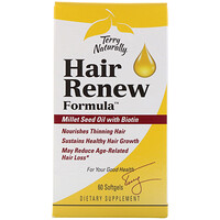Terry Naturally, Hair Renew Formula, формула восстановления волос, 60 желатиновых капсул - фото