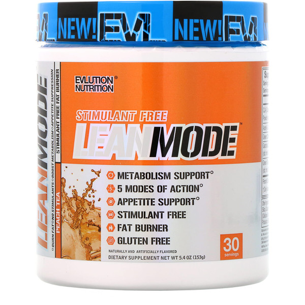 EVLution Nutrition, Lean Mode, Персиковый Чай, 5,4 унции (153 г) (Discontinued Item)