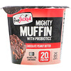 FlapJacked, Mighty Muffin с пробиотиками, со вкусом шоколадного арахисового масла (55 г)