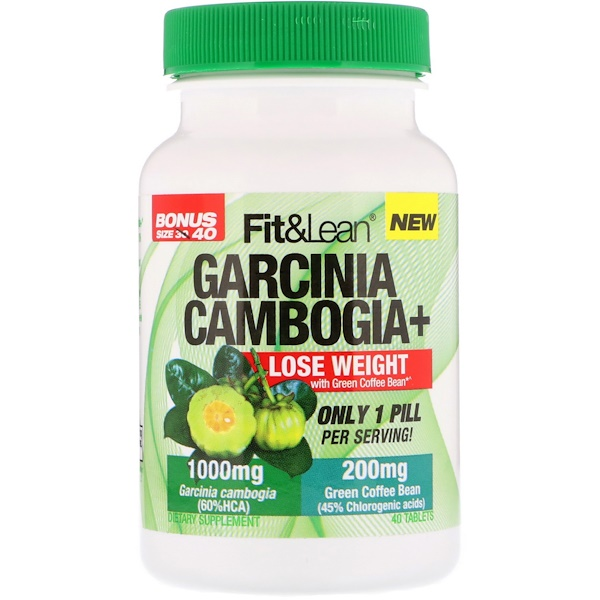 Fit & Lean, Garcinia Cambogia+, 40 Tablets (Discontinued Item)
