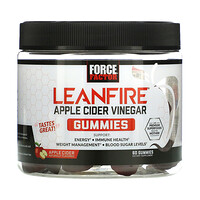 LeanFIre, Apple Cider Vinegar Gummies with Mother, Apple Cider Naturally Flavored, 60 Gummies - фото