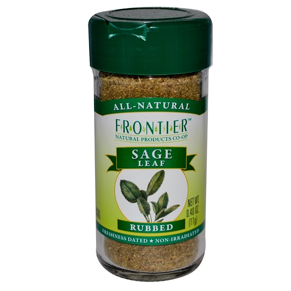 Frontier Natural Products, Sage Leaf, Rubbed, 0.40 oz (11 g) (Discontinued Item)