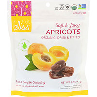 Organic, Dried & Pitted Apricots, 5 oz (142 g) - фото