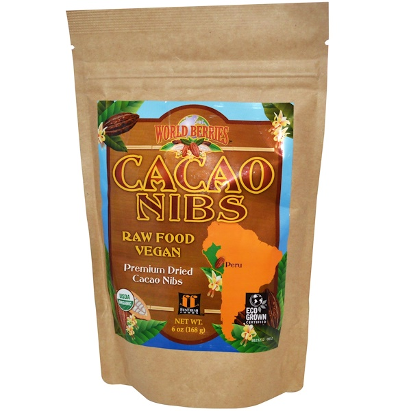 FunFresh Foods, World Berries, Cacao Nibs, 6 oz (168 g) (Discontinued Item)