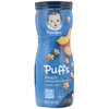 Gerber, Puffs Cereal Snack, 8+ Months, Peach, Crawler, 1.48 oz (42 g)