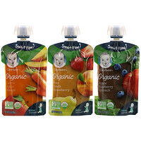 Organic Value Pack,  Pear Peach Strawberry, Carrot Apple Mango, Apple Blueberry Spinach, 9 Pouches, 3.5 oz (99 g) Each - фото