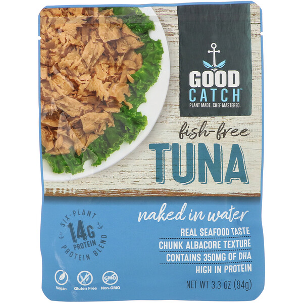 Good Catch, Fish-Free Tuna, Naked In Water, 3.3 oz (94 g)