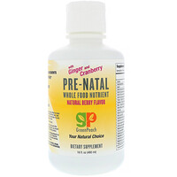 Pre-Natal, Whole Food Nutrient, Natural Berry Flavor, 16 fl oz (480 ml) - фото