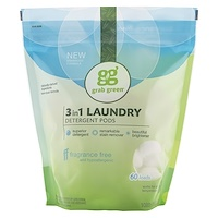 3-in-1 Laundry Detergent Pods, Fragrance Free, 60 Loads, 2lbs, 6oz (1,080 g) - фото