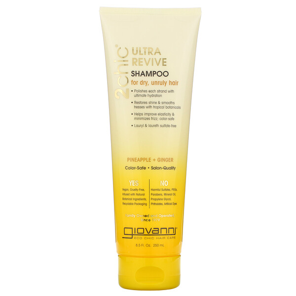 2chic, Ultra-Revive Shampoo, for Dry, Unruly Hair, Pineapple & Ginger, 8.5 fl oz (250 ml)