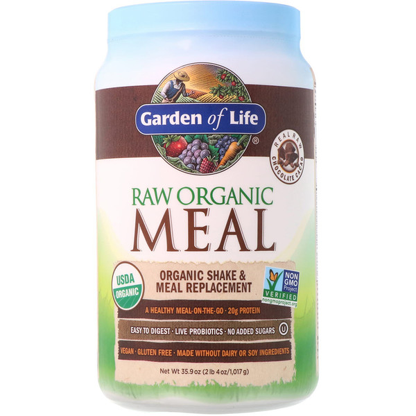 RAW Organic Meal, Shake & Meal Replacement, Chocolate Cacao, 35.9 oz (1.017 g)