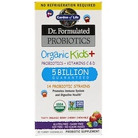 Dr. Formulated Probiotics Organic Kids+ Shelf Stable, 30 Capsules - фото