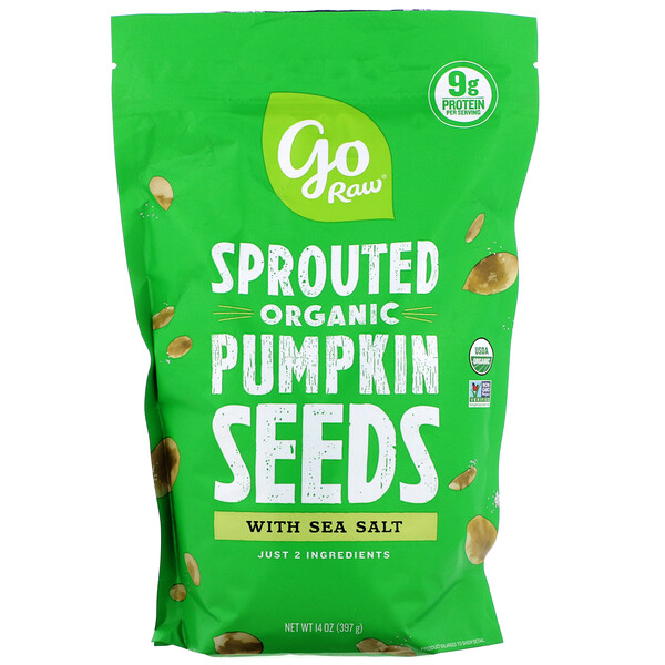 Organic Sprouted Pumpkin Seeds with Sea Salt, 14 oz (397 g)