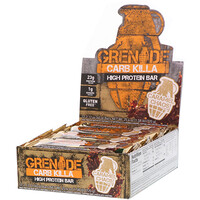 Carb Killa Bar, Caramel Chaos, 12-2.12 oz bars , Net Wt 25.44 oz - фото