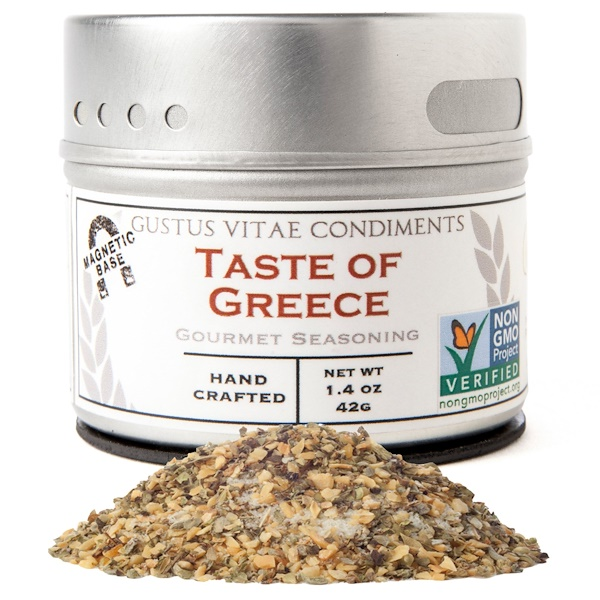 Gustus Vitae, Gourmet Seasoning, Taste of Greece,  1.4 oz (42 g) (Discontinued Item)