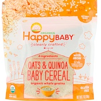 Organic, Clearly Crafted, Oats & Quinoa Baby Cereal, 7 oz (198 g) - фото
