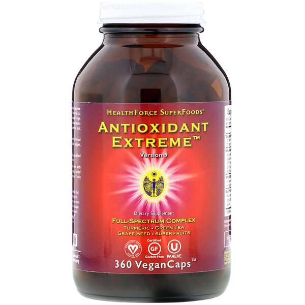 HealthForce Superfoods, Antioxidant Extreme, версия 9, 360 капсул VeganCaps