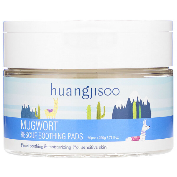 Mugwort, Rescue Soothing Pads, 60 Pads, 7.76 fl oz (220 g)
