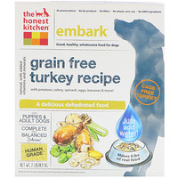 Embark, Grain-Free Dehydrated Dog Food, Turkey Recipe, 2 lbs (0.9 kg) - фото
