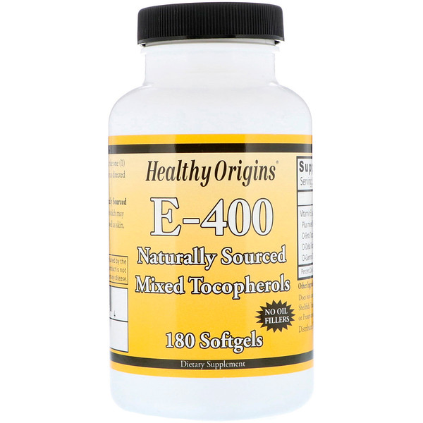 Healthy Origins, E-400, 180 мягких таблеток (Discontinued Item)