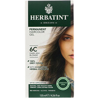 Permanent Haircolor Gel, 6C, Dark Ash Blonde, 4.56 fl oz (135 ml) - фото
