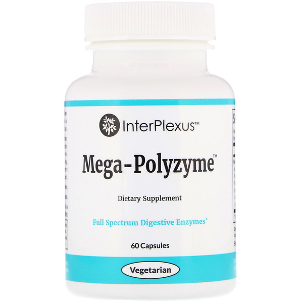 InterPlexus , Mega-Polyzyme, 60 капсул