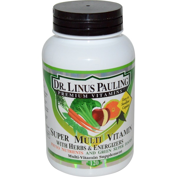 Irwin Naturals, Dr. Linus Pauling, Super Multi Vitamin with Herbs & Energizers, 120 Caplets