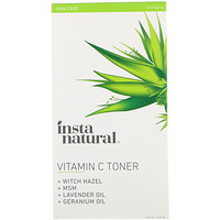 Vitamin C Facial Toner with Witch Hazel, Alcohol-Free, 4 fl oz (120 ml) - фото