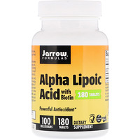Alpha Lipoic Acid with Biotin, 100 mg, 180 Tablets - фото