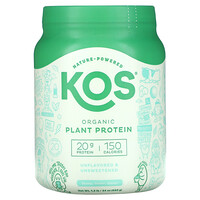 Organic Plant Protein, Unflavored & Unsweetened, 1.5 lb (680 g) - фото