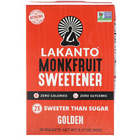 Monkfruit Sweetener, Golden, 30 Packets - фото