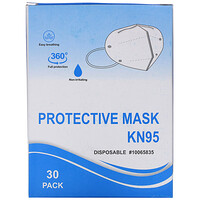 Disposable KN95 Protective Face Mask, 30 Pack - фото