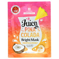 Insolution, Juicy Pina Colada Bright Mask, Pineapple & Coconut, 1 Sheet, 1.01 fl oz (30 ml) - фото