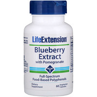Blueberry Extract with Pomegranate, 60 Vegetarian Capsules - фото