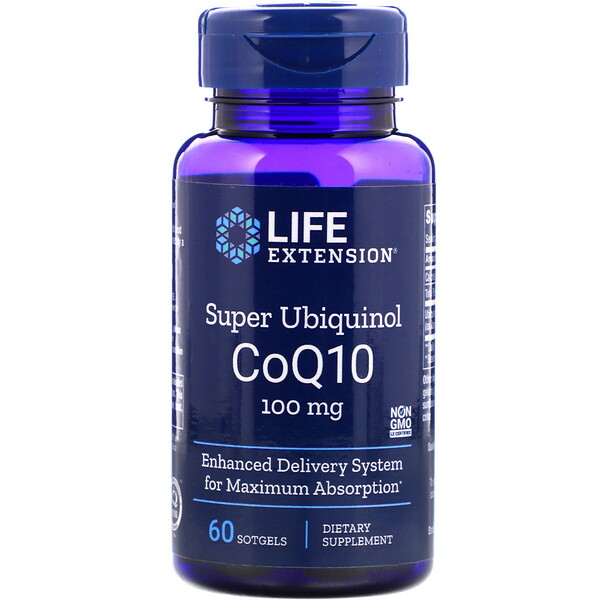 Super Ubiquinol CoQ10 with Enhanced Mitochondrial Support, 100 мг, 60 мягких желатиновых капсул
