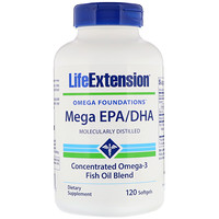 Omega Foundations, Mega EPA/DHA, 120 Softgels - фото