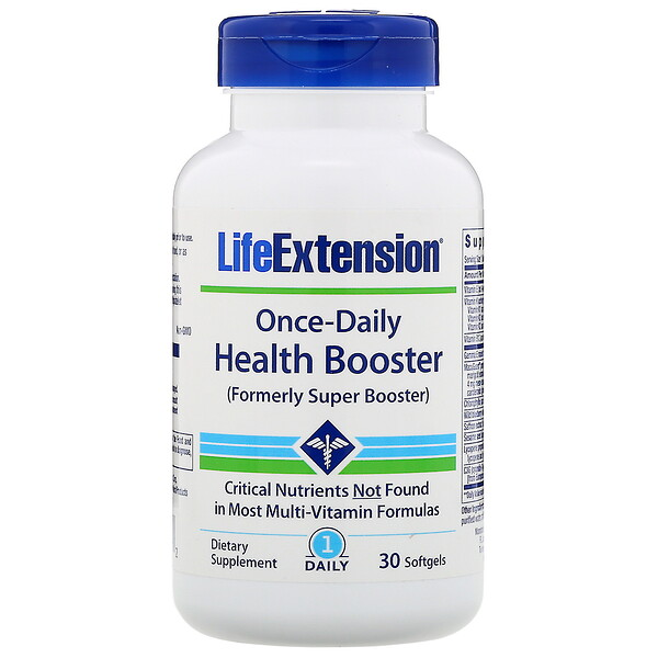 Life Extension, Once-Daily Health Booster, 30мягких таблеток (Discontinued Item)
