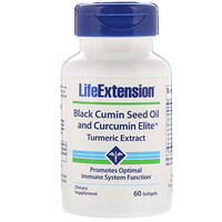 Black Cumin Seed Oil and Curcumin Elite Turmeric Extract, 60 Softgels - фото