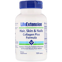 Hair, Skin & Nails, Collagen Plus Formula, 120 Tablets - фото