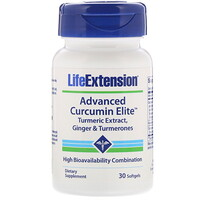 Advanced Curcumin Elite, Turmeric Extract, Ginger & Turmerones, 30 Softgels - фото