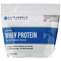 Whey Protein + Probiotics, Unflavored, 5 lb (2270 g) - фото