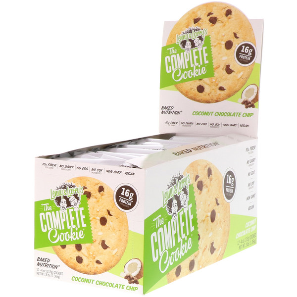 Lenny & Larry's, The Complete Cookie, Coconut Chocolate Chip, 12  Cookies, 4 oz (113 g) Each (Discontinued Item)