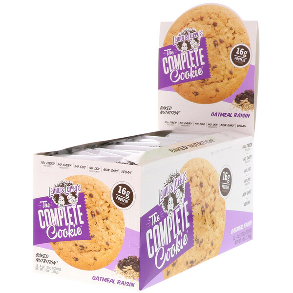 The COMPLETE Cookie, Oatmeal Raisin, 12 Cookies, 4 oz (113 g) Each