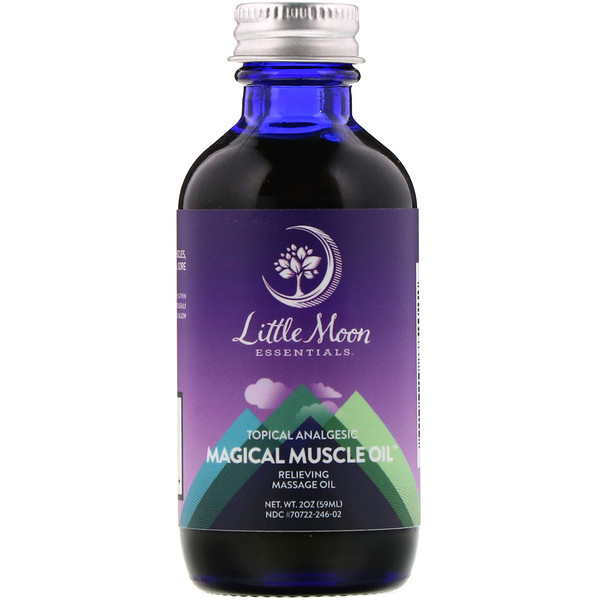 Little Moon Essentials, Magical Muscle Oil, Relieving Massage Oil, 2 oz (59 ml)