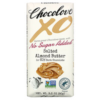 XO, Salted Almond Butter in 60% Dark Chocolate, 3.2 oz (90 g) - фото
