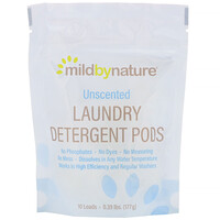 Laundry Detergent Pods, Unscented, 10 Loads, 0.39 lbs (177 g) - фото